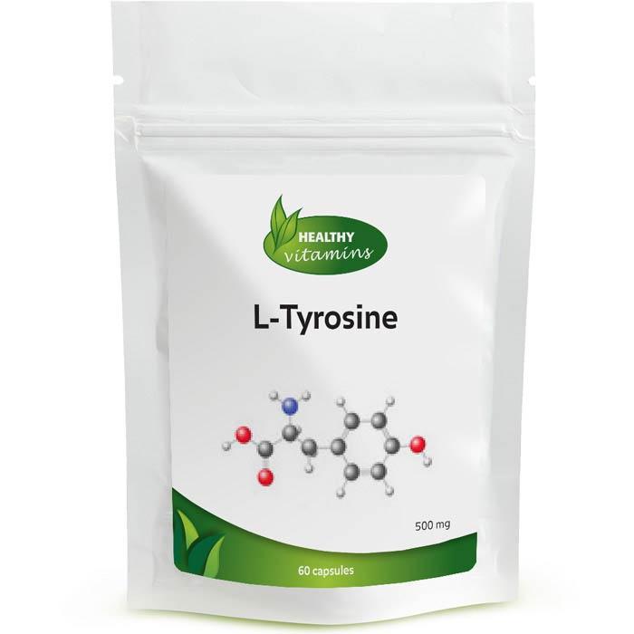 L-Tyrosine - 60 capsules - 500 mg - Vitaminesperpost.nl