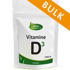 Vitamine D3 1000ie - 480 softgels - Bulk