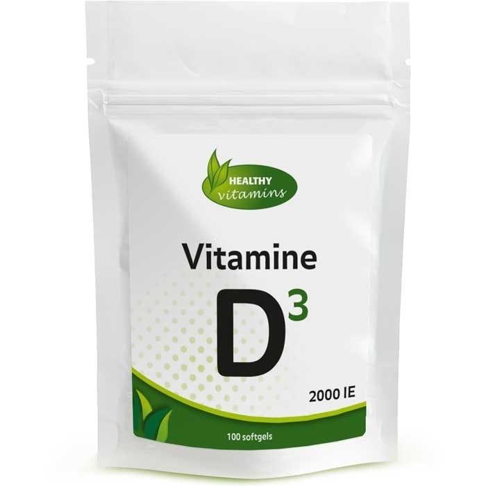 Vitamine D3 - 100 softgels - 2000ie - Vitaminesperpost.nl