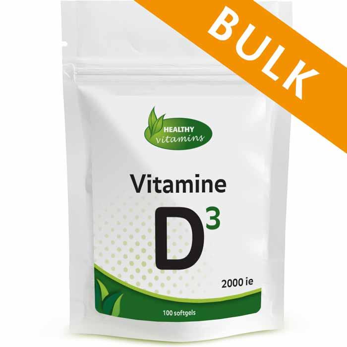 Vitamine D3 2000ie - 400 softgels - Vitaminesperpost.nl