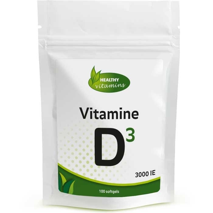Vitamine D3 3000 IE - 100 softgels - Vitaminesperpost.nl