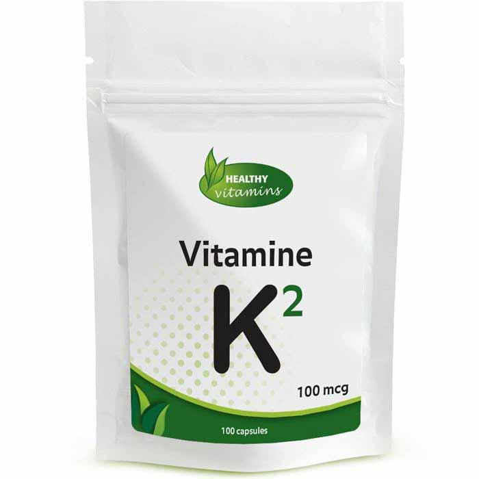 Vitamine K2 - 100 capsules - 100mcg - Vitaminesperpost.nl