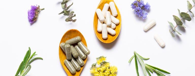 Al het gezonde van bloemen in een supplement
