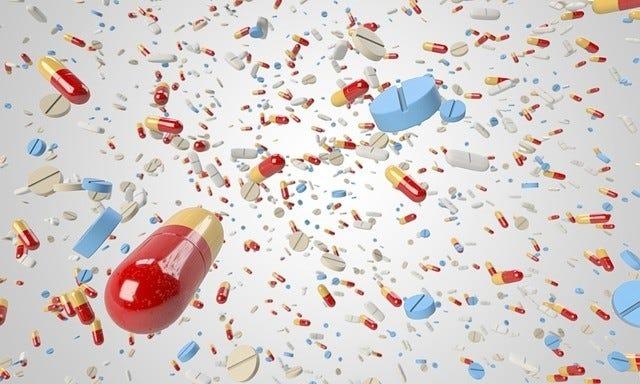 diverse capsules en pillen