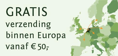 Gratis verzending binnen Europa boven de 50 euro