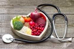 groente in een hart