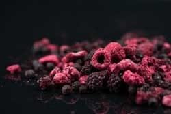 Freezedried fruit