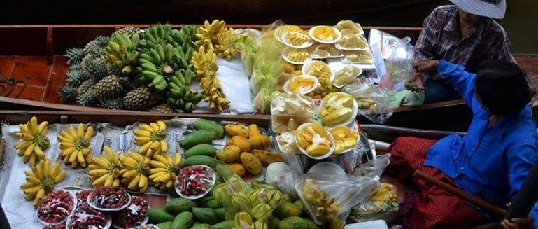 Fruitstand op de markt