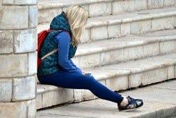 gestresst meisje