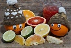Fruit met een mutsje