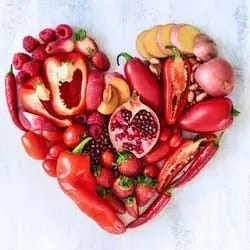 Rood groente hart