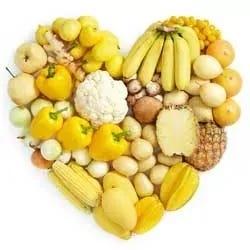 Geel groente hart