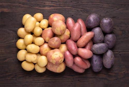 verschillende soorten aardappels