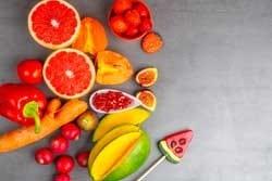 Kleurige groenten en fruit