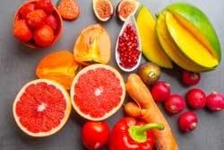 Gekleurd fruit en groenten