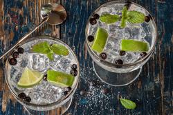 Glazen gin-tonic