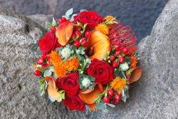 Saffloerbloemen: leuk in een boeketje