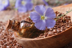 Lijnzaad met bloem